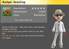 Badgergravling on new Xbox Live