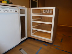 Installed cabinet