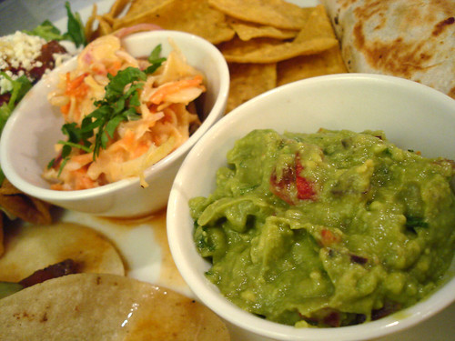 Spicy Slaw and Guacamole