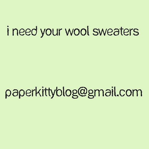 I Need Your Wool Sweaters
