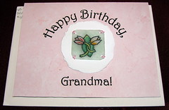 Shrinky Dink birthday card
