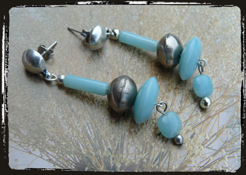 Orecchini amazonite - Amazonite earrings MEHDPAV