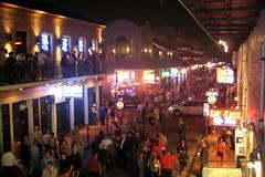 New Orleans - French Quarter - Bourbon Street ...