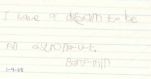 BenjaminHandwriting Jan4 2008