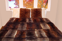 Tri-Colour Possum Fur Throw