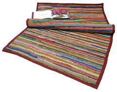Durry - recycled silk rug