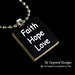 Faith Hope Love Pendant by ingasgems