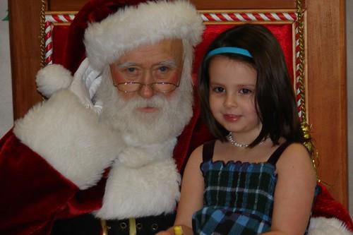 Evey visiting Santa