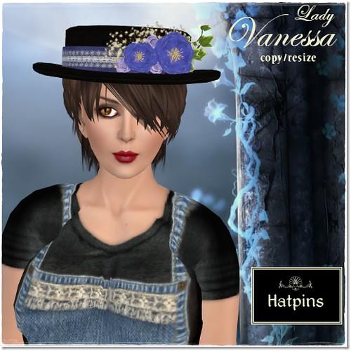 Hatpins - Lady Vanessa - Sixty Linden Weekend