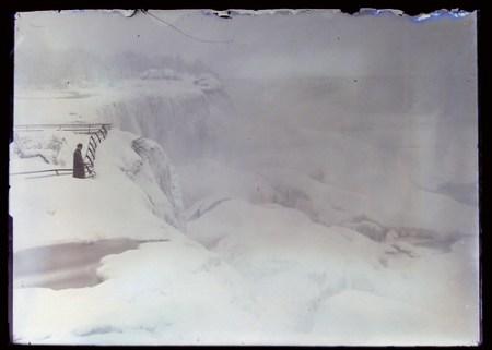 Snowy Landscape possibly a Frozen Niagara Falls