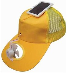 solar powered fan cap