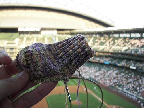 knitting socks for mom