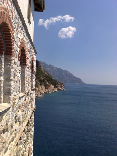 View from Grigoriou Monastery