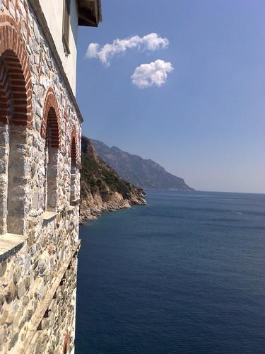 View from Grigoriou Monastery