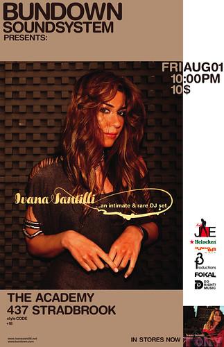 Ivana Santilli...an intimate & rare DJ set