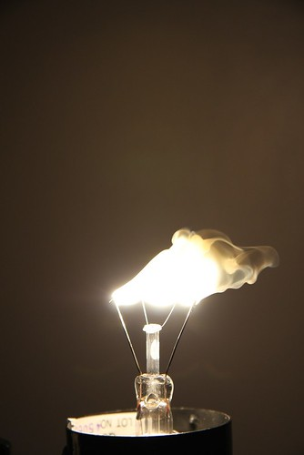 Burning Light Bulb 1