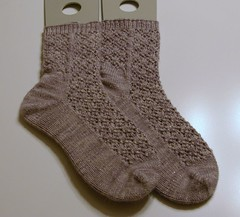 Finished Snowflake Lace socks