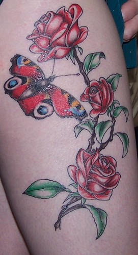 Right thigh tattoo by stellacart. From stellacart