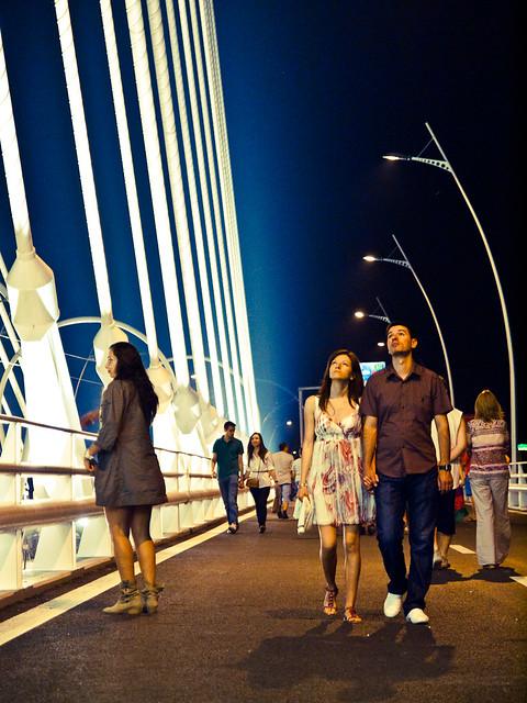 Podul Basarab la deschidere