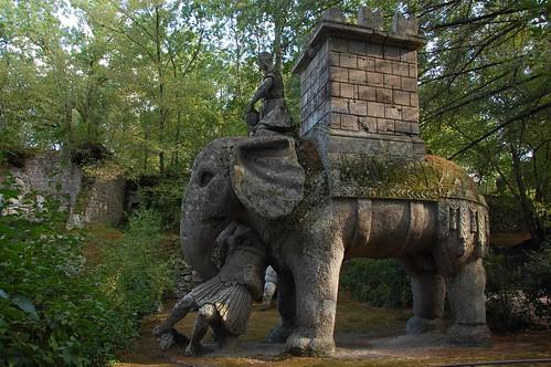 The Pope's elephant. Bomarzo