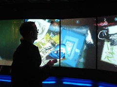 Interactive wall at Te Papa - musuem interactive