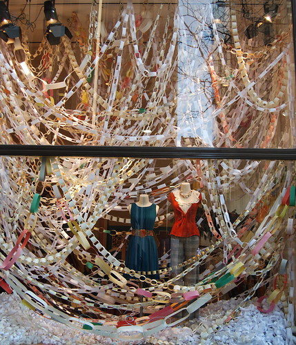 Anthropologie Paper Link Chain Window Display by platinumblondelife.