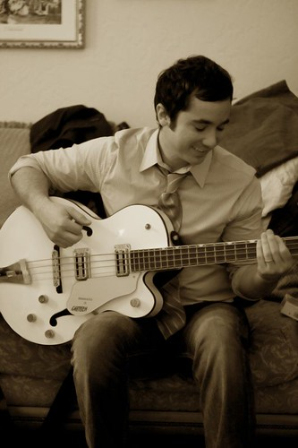 Daniel playing guitar in the bridal suite of Crosley... no comments.