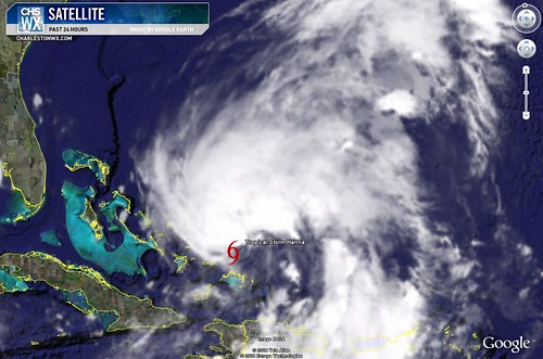Tropical Storm Hanna 11PM Advisory 09/03:  Satellite Photo
