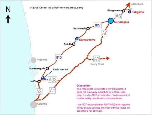 Colombo - Kurunegala via Dambadeniya