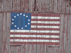 Betsy Ross Flag Painted on a Barn