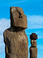 Die Moai in Tahai (nähe Hanga Roa)