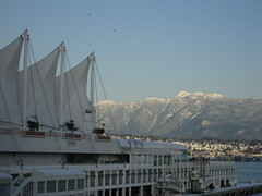 Canada Place and mountains