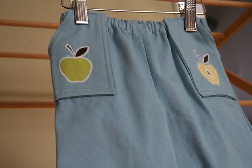 Apple Sky Pants Close-up