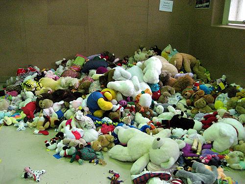 Mound of stuffed animals