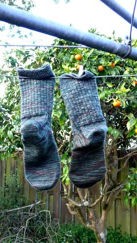 Basket Weave Socks Finished