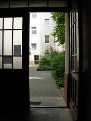 doorway to courtyard