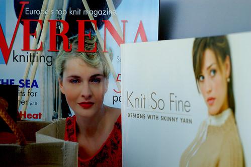 Verena magazine and KNIT SO FINE book