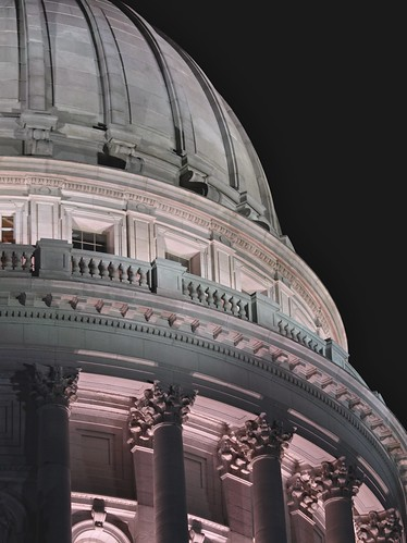 Wisconsin State Capitol at Midnight