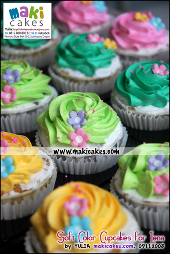 Soft Color Cupcakes for Lena - Maki Cakes