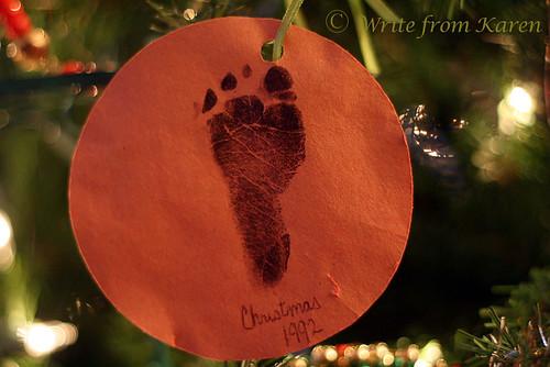 First Footprint Ornament