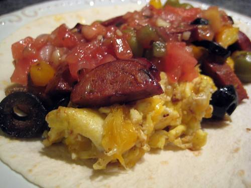 Chorizo and Egg Breakfast Burrito