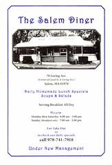 Salem Diner menu