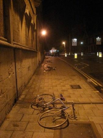 Drunken bicycles