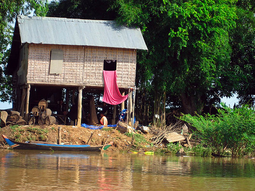 House on the river, Cambodia
