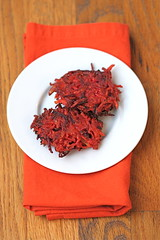 Sweet Potato Beet Latkes 2