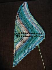 Foaming sea miniature shawl