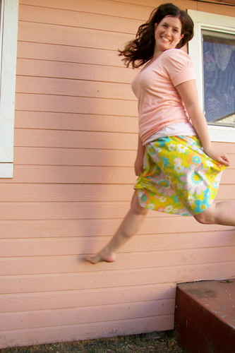 Jumping for Skirty Joy