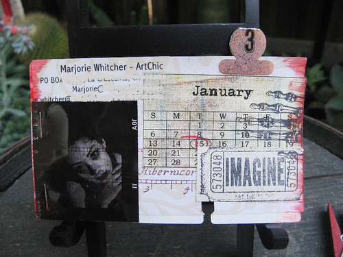 Altered Rolodex Card - 1