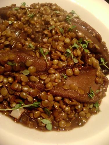 Beefsteak Mushroom and Lentils