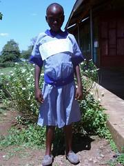 Lydia Akoth, Zweitklässlerin, unterstützt von der Kinderkirche Jubilate